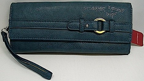 Mundi 3 For All Wristlet /Clutch /Pebble Rock Wallet ~ Teal
