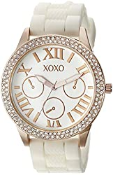 XOXO Women's XO8088 Analog Display Analog Quartz White Watch