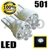501 4 QUAD LED XENON WHITE SIDELIGHT INTERIOR NUMBER PLATE BULBS W5W T10 194 VOLKSWAGEN VW BORA SALOON