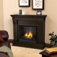 Real Flame Chateau Ventless Gel Fireplace Dark walnut from Real Flame