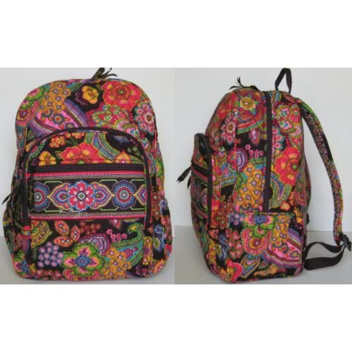 Amazon.com: Vera Bradley Campus Backpack in Symphony in Hue