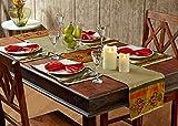 Stoa Paris STPMATNAP4 Silk Table Linen 6 Placemats with 6 Napkins - Multicolor
