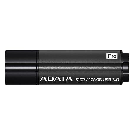 ADATA USA S102 Pro Advanced USB 3.0 128GB Flash Drive, Gray (AS102P-128G-RGY) at amazon