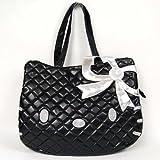Hello Kitty Head Shaped Tote Shoulder Bag Black