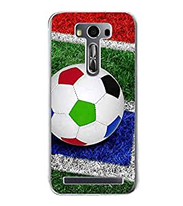 Colourful Football 2D Hard Polycarbonate Designer Back Case Cover for Asus Zenfone Selfie ZD551KL