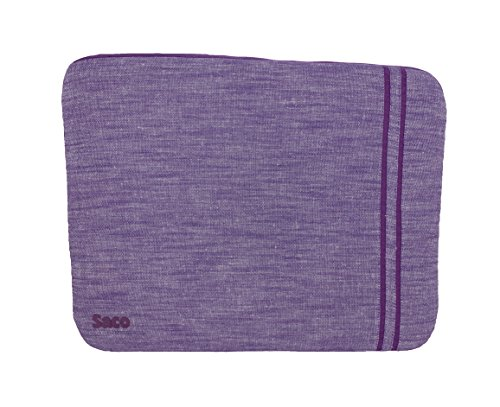 Saco Washable Fabric Laptop Notebook Ultrabook Sleeve Bag Zipper Case with accessories adapter pocket suitable for Lenovo Essential B490 (59-413237) Notebook - 14 inch - Purple  available at amazon for Rs.560