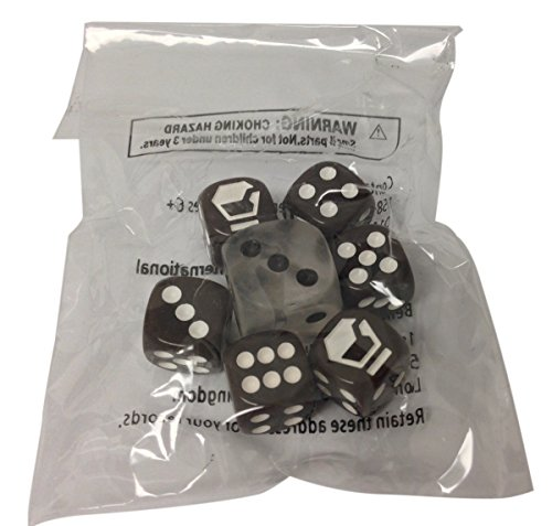 Pokemon Furious Fists Dice, Sealed Set of 7 (Brown and White) from the Furious Fists Elite Trainer Box - 1