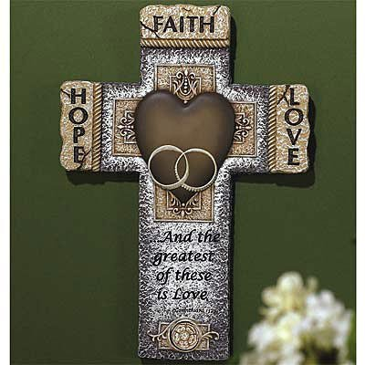 Faith Hope Love Marriage Cross