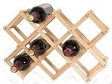 【LANTIS☆ランティス】使わない時はたたんでコンパクトに!木製ワインラック ワインボトルラック ワイン棚 10本用