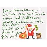 Witzige Weihnachtspostkarte Socken