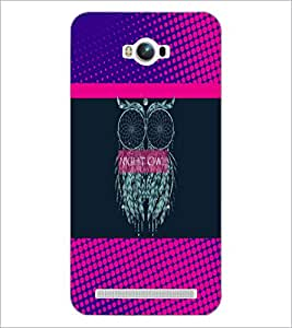 PrintDhaba Owl D-3532 Back Case Cover for ASUS ZENFONE MAX ZC550KL (Multi-Coloured)
