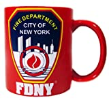 FDNY MUG WITH SHIELD - RED