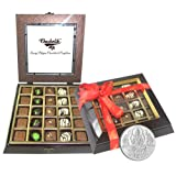 Chocholik Belgium Gifts - Exotic Flavours Of Chocolates With 5gm Pure Silver Coin - Diwali Gifts
