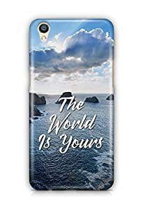 YuBingo The World is Yours Designer Mobile Case Back Cover for Oppo F1 Plus