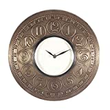 Home And Bazaar Traditional Rajasthani Wall Clock With Brass Embodded Number Finish