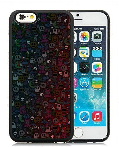 Textures Cute Halloween Monsters Pattern Wallpaper Case Cover for Apple iPhone 6 (4.7 inch) (Cute Halloween Wallpaper Iphone)