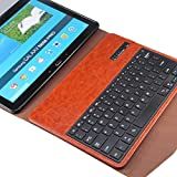NEWSTYLE Samsung Galaxy Tab Pro 12.2 inch & Samsung Galaxy Note Pro 12.2 inch Tablet Portfolio Case with Wireless Removable Bluetooth ABS Hard Keys Keyboard For Galaxy TabPro 12.2 & Galaxy NotePro 12.2 P900 - Brown Color