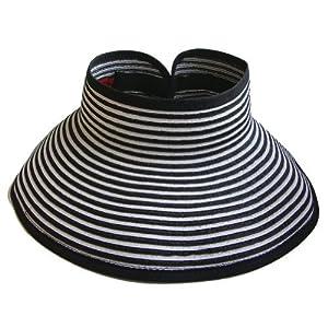 San Diego Hat Visor, Black/White, One Size