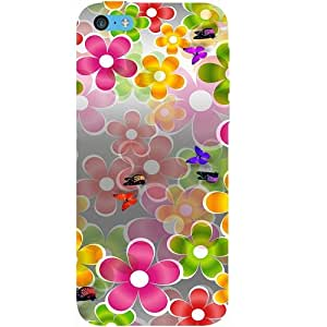 Casotec Butterflies Design Hard Back Case Cover for Apple iPhone 5C