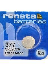 Renata Silver Oxide Watch Battery For Renata 377 Button Cell