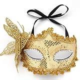 FACILLA® Mask Masquerade Costume Prop Yellow Halloween Fancy Dress Ball Party Xmas