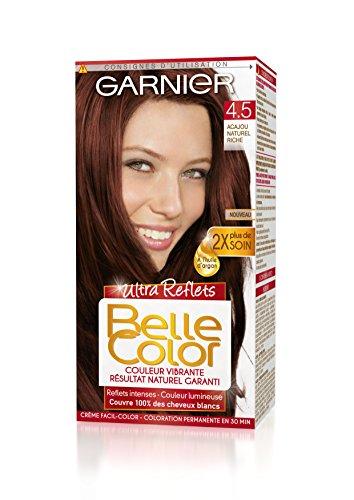 3600541356184 garnier belle color coloration permanente cuivr 45 acajou naturel riche naturel - Belle Color Acajou