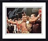 Framed Mike Tyson Autographed 8'' x 10'' Belts Photograph - Fanatics Authentic Certified - Autographed Boxing Photos