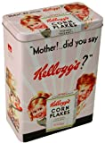 Kelloggs Vintage Cereal Tin - Corn Flakes Retro Pink Storage Tin