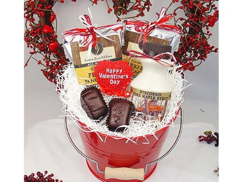 Valentines Breakfast for Two Gift Bucket