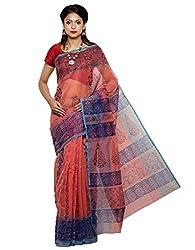 Unnati Silks Women orange supernet saree