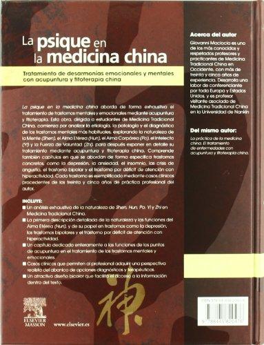 La psique en la medicina china: Tratamiento de desarmonías emocionales y mentales con acupuntura y fitoterapia china