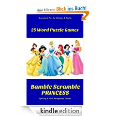 BAMBLE SCRAMBLE PRINCESS Word Game Puzzles for Adults & Kids Improve Spelling Vocabulary Educational Game Puzzles