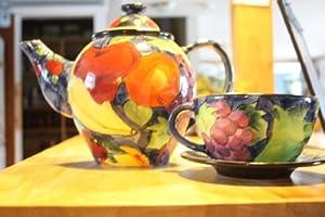 Bella Casa by Ganz Fruit Ceramic Teapot (Multi)