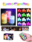 MagnusDeal® Luma Wax LED Candles with Remote- Scented (Pure Wax No Chemical): 3 Candle Set