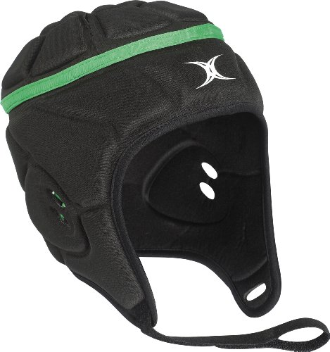 Gilbert Mens Atomic Rugby Headguard - Large, Black