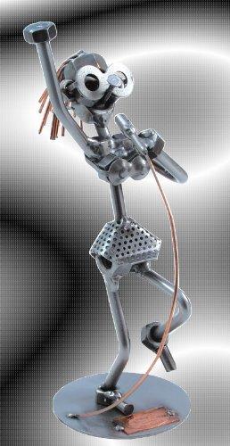 Boystoys-HK-Design-Sngerin-Singstar-Schraubenlady-Metall-Art-Geschenkideen-Deko-Skulptur-Musiker-Musikinstrumente-hochwertige-Original-Schraubenmnnchen-Figuren-handgefertigt
