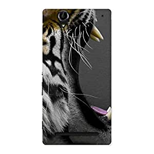 Enticing Roar Tiger Multicolor Back Case Cover for Sony Xperia T2
