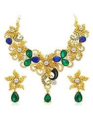 Sukkhi Astonish Gold Plated AD Necklace Set For Women