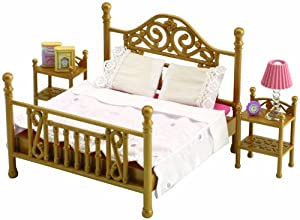 Sylvanian Families Luxury Brass Bed