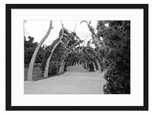 south-bank-walkway-art-print-wall-solid-wood-framed-picture-black-white-24x16-inches