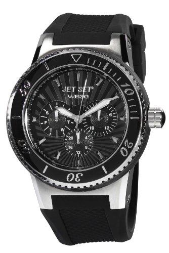 Jet Set - J64444-237 - Wb30 - Montre Mixte - Quartz Analogique - Cadran Noir - Bracelet Caoutchouc Noir