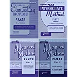 Rubank Elementary Method and Rubank Intermr/Adv Method - Flute/Piccolo, 4 Book Set, RBK FLUTE 4BK
