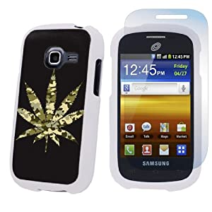 Samsung Galaxy Centura S738C White Protection Case + Screen Protector