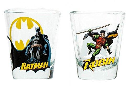 DC Comics Batman & Robin 2-oz. Shot Glasses (Set of 2)