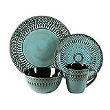 American Atelier Round contemporary-style Romy Blue Earthenware 16-piece Dinnerware Set