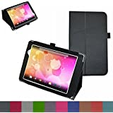 "Mama Mouth Folio 2-folding Slim Fit Stand Case Cover for 8"" Le Pan Mini TC802A Android Tablet Black"