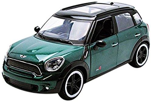 Richmond Toys Motormax - Modellino pressofuso da collezione della Mini Cooper S Countryman, scala 1:24, colore: verde