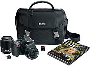 Nikon D5200 Digital SLR with 18-55mm & 55-200mm Non-VR Lenses (Black)