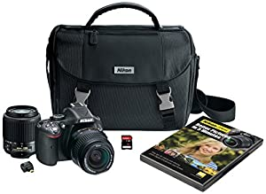 Nikon D5200 Digital SLR with 18-55mm & 55-200mm Non-VR Lenses (Black)