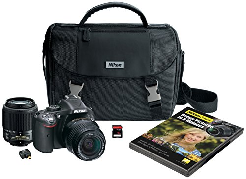 Nikon D5200 Digital SLR with 18-55mm & 55-200mm Non-VR Lenses (Black) (Discontinued by Manufacturer)
